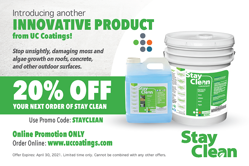 20% OFF YOUR NEXT ORDER OF STAY CLEAN. Use Promo Code: STAYCLEAN. Offer Expires: April 30, 2021. Limited time only. Cannot be combined with any other offers.